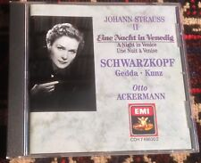 EMI CDH 7695302 JOHANN STRAUSS II a night in venice SCHWARZKOPF 1988 CD