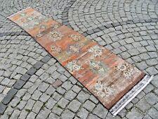 Runner  Rug, Vintage  Anatolian, OUSHAK Runner  Rug  22,4'' X 118,5'' Area  Rug