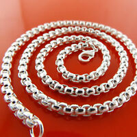 CHAIN NECKLACE GENUINE REAL 925 STERLING SILVER S/F SOLID HEAVY CUNKY LINK