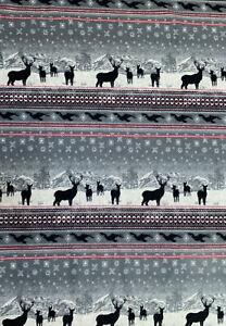 Woolrich Home Blanket Throw Deer Elk Fleece 50 X 68