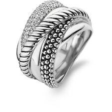 New Genuine Ti Sento Sterling Silver CZ set ring 12003ZI Size 56 £179
