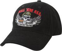 Black Kill 'Em All Let God Sort 'Em Out Special Forces Adjustable Cap Hat