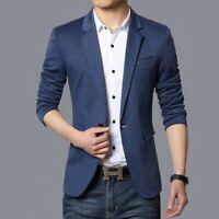 Mens Formal dress Slim fit Business Coats Tuxedo Casual Blazer Jacket Lapel New