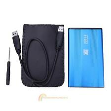 "USB 3.0 2.5"" SATA Hard Disk Esterno Mobile Disco HD Custodia/Case Box Blu"