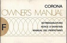 Toyota corona t100 manual de instrucciones de 1975 owner's manual notice d 'entretien ba