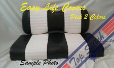 QUILT Vinyl CLUB CAR PRECEDENT Golf Cart Custom Front Seat Covers Staple On DIY
