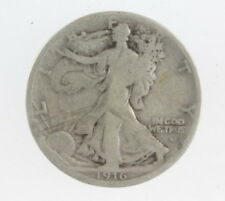 1916 S US Mint Silver Walking Liberty Key Date 50 Cent Coin
