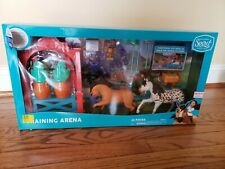 Spirit Riding Free TRAINING ARENA SET Set W/ 2 Horse Figures + Accessories NEW