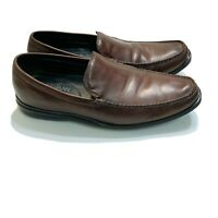 COLE HAAN Men's Brown Leather Slip-on Loafers Shoes C08204 Size 12M