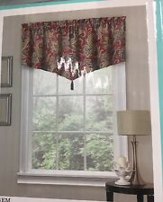 Red Multi  Valance Curtain New 52 X 21 Inches Rustic Retreat