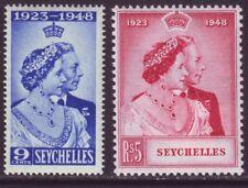 Seychelles 1948 SC 151-152 MH Set Silver Wedding
