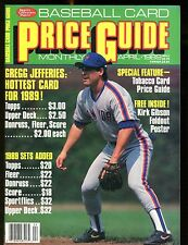 SCD Baseball Card Price Guide April 1989 Gregg Jefferies jhscd2