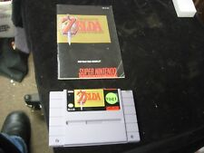 Super Nintendo Legend of Zelda A Link To the Past Video Game with Instructions