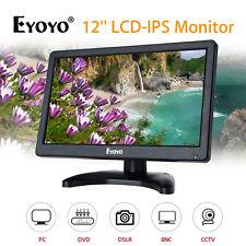 "EYOYO 12"" IPS LCD PC DVD TV Monitor Display 1920*1080 VGA AV Audio Video For PC"