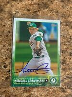Kendall Graveman Signed 2015 Topps Update Auto Chicago Cubs Oakland A's