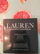 """Ralph Lauren Pink Grapefruit Aqua Tablecloth 60"""" x 102"""" New Seats 8-10"""