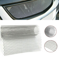 Aluminum Silver Car Front Diamond Grille Net Mesh Grill Section Cover Universal