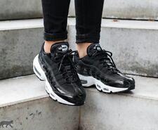 7 WOMEN'S Nike Air Max 95 SE PRM FORCE WHITE Black 90 97 270 CASUAL AH8697 001