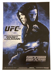 UFC 170 French Event Poster, Ronda Rousey, Sara McMann, Cormier, 27x39, Unsigned