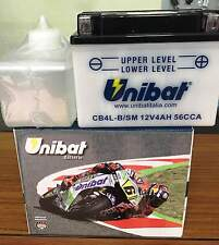 BATTERY MOTORCYCLE SCOOTER UNIBAT CB4LB SM 4 AMPERE 12V,WITH ACID A KIT