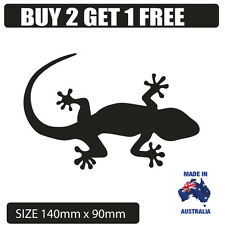 Popular BLACK  GECKO sticker decal for car Ute Laptop Fridge or vehicle