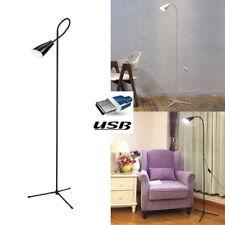 LED Tall Standard Standing Floor Lamp Bedside Sofa Reading Bar Light Xmas Decor