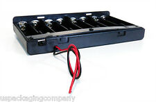 12V Battery Holder 8x AA Battery DC LED Power Supply Portable Compact