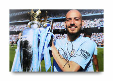 David Silva Signed 12x8 Photo Manchester City Autograph Memorabilia + COA