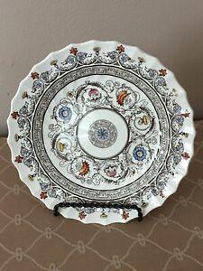 Spode Florence Bread & Butter Plates Royal Blue Center