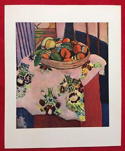 Henri Matisse,Still Life With Orange,Rar,Vintage,Offs.Lithograph1939,Platesigned