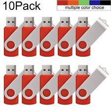 Flash Drive Memory Stick Thumb Drives USB 2.0 (16MB-32GB - 10 Pack, Multicolor)