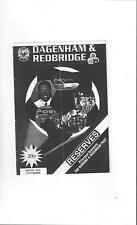 Dagenham & Redbridge v Ford United Reserves Football Programme 1994/95