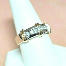 Mens Diamond Ring 14K SOLID GOLD Two Tone ~ SIGNED ~ ODI sz 10