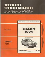 REVUE TECHNIQUE AUTOMOBILE 339 RTA 1974 RENAULT 16 TX CITROEN 2CV4 2CV6 250 400