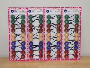 4 Pack TARA Girls Twin Bead Bubble Pony Tailer - 10 PCS Per Pack - PICK YOURS