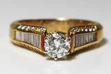 0.71 Carat Diamond Solitaire Ring (1.53 Carat Total) 18Ct Gold, Ring Size R