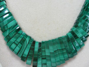 MALACHITE Artisan Necklace Slighly Uneven Necklace Gold Filled Clasp