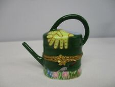 Artoria Limoges Peint Main Lmt Ed Happy Mothers Day Watering Can Trinket Box