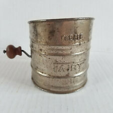 Vintage FAIRY Sifter - One Cup - Small, Works, Wooden Handle - 3.25in