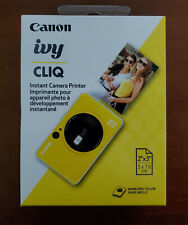 Brand New Canon Ivy Cliq Instant Camera Printer in Yellow Color & Factory Sealed