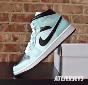 Women's Nike Air Jordan 1 Mid Light Dew Black Teal Tint BQ6472-300 Size 5-12