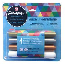 Sakura 48020 Permapaque Dual Point Metallic Paint Marker Pen Set 4 Colors NEW!