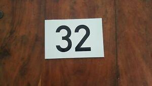 Hausnummer Zahl Nummer Kunststoff mit Wunschzahl