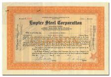 Empire Steel Corporation Stock Certificate (Ohio)