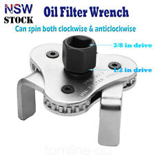 """3 Jaw Engine Oil Filter Removal Wrench Tool - 1/2"""" & 3/8'' Drive 54mm-116mm"""