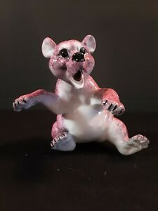 New Kitty's Critters Roland Pink Laughing Bear Porcelain Rare