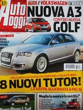 Auto Oggi n°23 2007 Audi A3 vs GOLF - Renault Laguna - Nissan X-Trail  [P45]