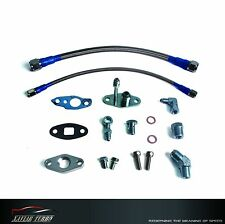 Turbo Oil Feed & Oil Drain Line Kit TOYOTA CT9 CT12 CT20 26 Turbo T3/T4 M8/M12
