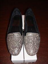 Dolce Vita Black White Snake Print Leather Brannon Slip On Shoes Women's 10 M