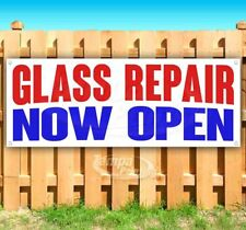 Glass Repair Now Open Advertising Vinyl Banner Flag Sign Many Sizes